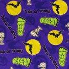 Halloween Frankenstein Trick or Treat Fabric FQ