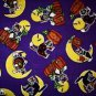 Halloween Witch cat on a moon Fabric FQ