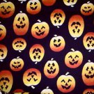 Halloween Pumpkin Jack-o-Lantern Fabric FQ