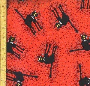 Halloween Black Cats Fabric FQ