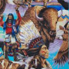 Indian Native American Buffalo Eagle Horse Cotton fabric FQ Fat Quarter