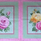 Gorgeous Roses fabric pillow Panel