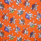 Halloween Pirate Skulls crossbones Fabric FQ Fat Quarter - kids