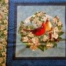 Spring time birds Fabric pillow panel - Hautman -2
