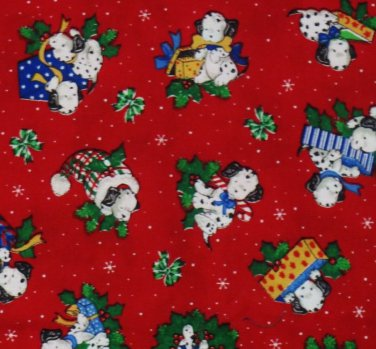 CHRISTMAS PUPPY DOGS Fabric Fat Quarter- DALMATIANS