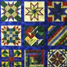 "Blocks COUNTRY COLOURS ""SUZI Q QUILTER"" Fabric 1 yd.- rare"