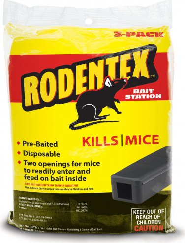RODENTEX 3-PACK BAIT STATION