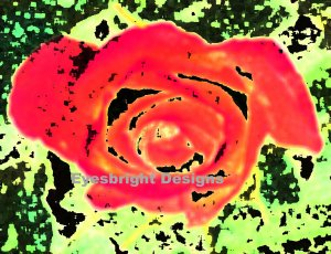 Rose - Digital Abstract Art - 18x12 Poster