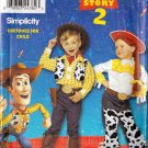 Simplicity Sewing Pattern 0635/ 9433 Childs Disney Toy Story Costume Woody & Jessie Size 3 4 5 6 7 8