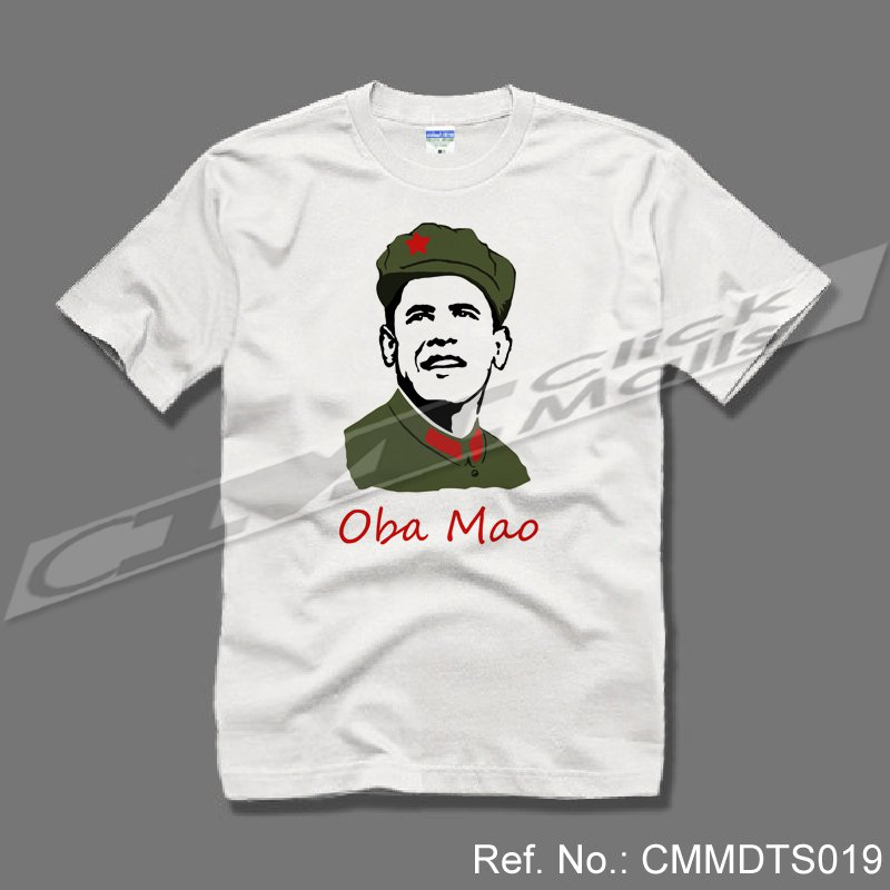 Obama with China Culture t-shirt / tshirt / t shirt / tee