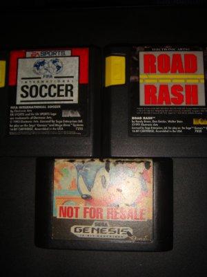 3 Sega Genesis games