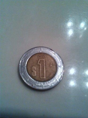 gold plated 2001 estados unidos mexicanos dollar coin