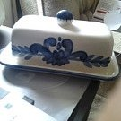 Blue and White Butter Holder