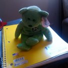 Ty Stuffed Animal Green Bear