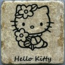 Hello Kitty Drink Coaster Wall Art Tumbled Tile Natural Stone Display Easel