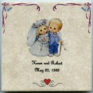 "Customized Wedding Ceramic Tile 6"" x 6"" Your Names and Wedding Date Personalized"