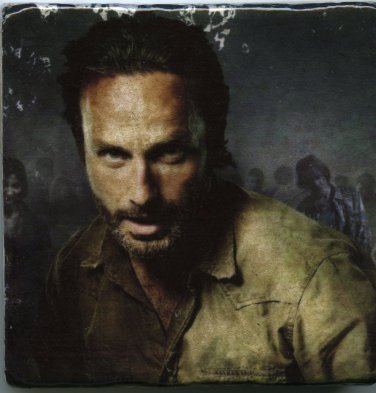 Rick Grimes Deputy Andrew Lincoln Walking Dead Tiles Wall Art Paperweights
