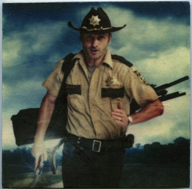 Andrew Lincoln Rick Grimes The Walking Dead Wall Art Tile Coaster Paperweight Table Accent Easel
