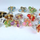 Lot of 14 Butterfly Adjustable Rings*Great for Party Favors*