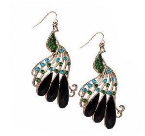 Peacock Rhinestone Earrings