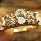 14K Gold White Topaz Ring Size 6