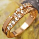 9K GF AAA Cz Band RIng Sizes 7 or 8