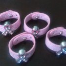 Rhinestone Breast cancer awareness ring