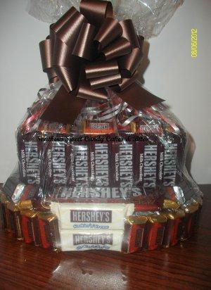 Handmade Candy Bar Cake  Hershy Round Free Shipping