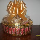 Handmade Candy Bar Cake Twix Round Free Shipping