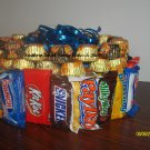 Handmade Candy Bar Cake Mixed Round Free Shipping