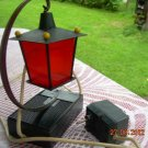 Rare Vintage Russian Soviet USSR Decor Red Lamp - AM Radio about 1980