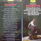 RIGOLETTO VERDI,GIUSEPPE (GIULINI,COTRUBAS,DOMINGO,CAPPUCCILLI)  3 MC Cassettes