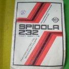 Vintage Soviet USSR Russian Radio Spidola 232 Manual And Diagram 1982