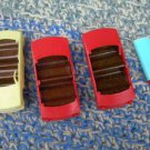 3  VINTAGE RUSSIAN SOVIET USSR TOY CARS PLASTIC  FOR PARTS