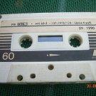 Vintage Soviet Russian Made IN USSR Kontak MK-60-5 Cassette  2x30 min 1990
