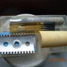 "Rare Vintage Russian Soviet USSR Safety Razor in  box + 1 ""NEVA"" blade and brush"