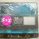 Sony Minidiscs Color  5 +1 Factory Sealed Pack NOS