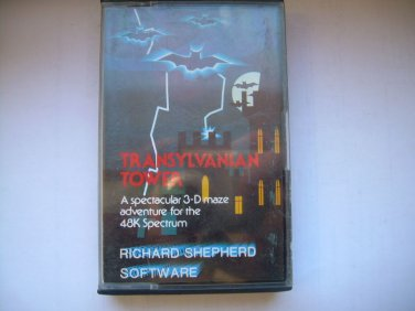 Vintage Sinclair ZX Spectrum 48K Game Shepherd's TRANSYLVANIAN TOWER 1982