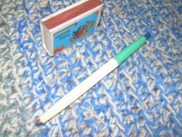 Vintage Russian Soviet USSR Mechanical Pencil  KIMEK Blue Knob