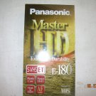 NOS Panasonic VHS Tapes Extra High Durability Sealed E-180 Master HD