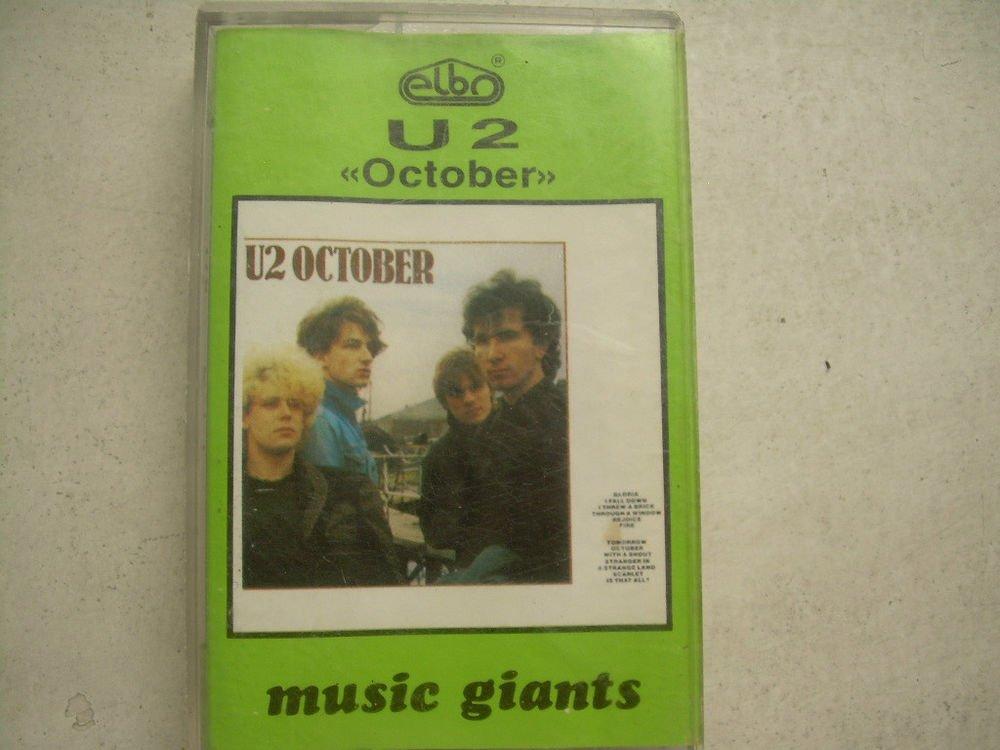 U2 October Cassette Polish Release Made In Poland