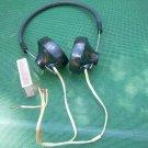 Vintage Soviet Russian Ussr Radio Headphones TG-1 1500 OHMS Bakelite Steampunk