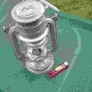 VINTAGE SOVIET DDR GDR KEROSENE LANTERN LAMP STOVE MODEL BAT No.158 ABOUT 1950