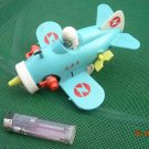 Vintage Soviet Russian Ussr Airplane Wind Up Toy Working 1975 Needs Repair