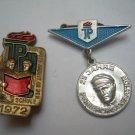 Vintage GDR DDR Young Communist Octabrist  Signs Set Of 2