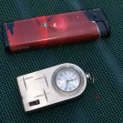 Vintage Soviet Russian Ussr  LCD TRAVEL KEYCHAIN ALARM CLOCK LUCH