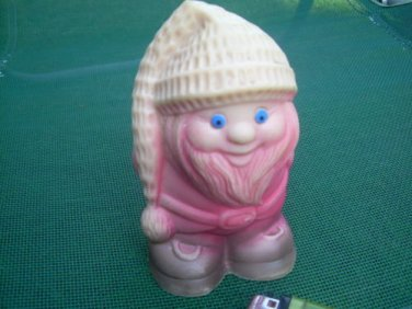 Vintage Soviet Russian USSR  Rubber  Toy About 1970 Ded Moroz Santa Claus