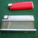 RARE VINTAGE  SOVIET USSR  PETROL BENZINE Transparent Body LIGHTER  AMATA  1974