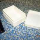 Vintage Soviet USSR Russia White Soap Plastic Travel Case Box About 1970