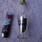 LOT-174 VINTAGE EMPTY MINI 5CL.GLASS BOTTLE GREEK 7 STARS METAXA BRANDY
